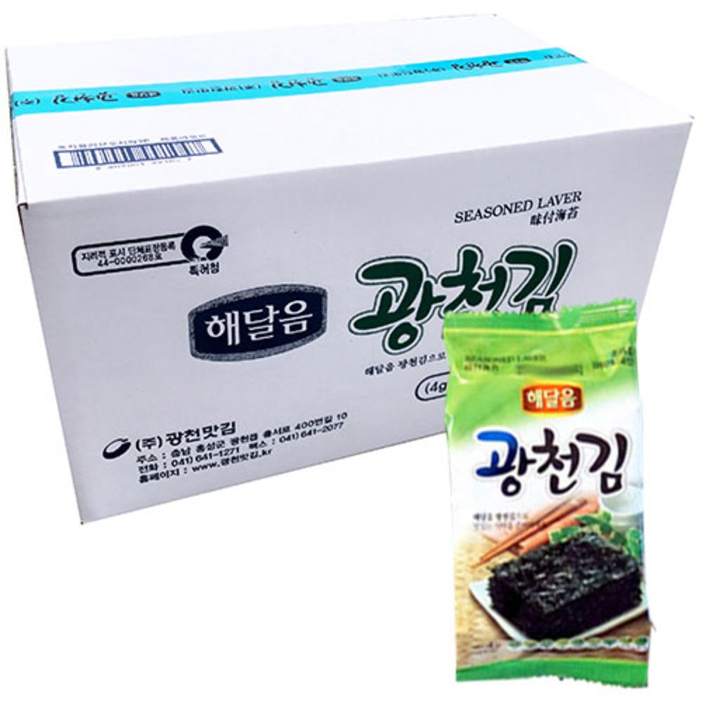 해달음 광천 도시락김 4g, 72개입