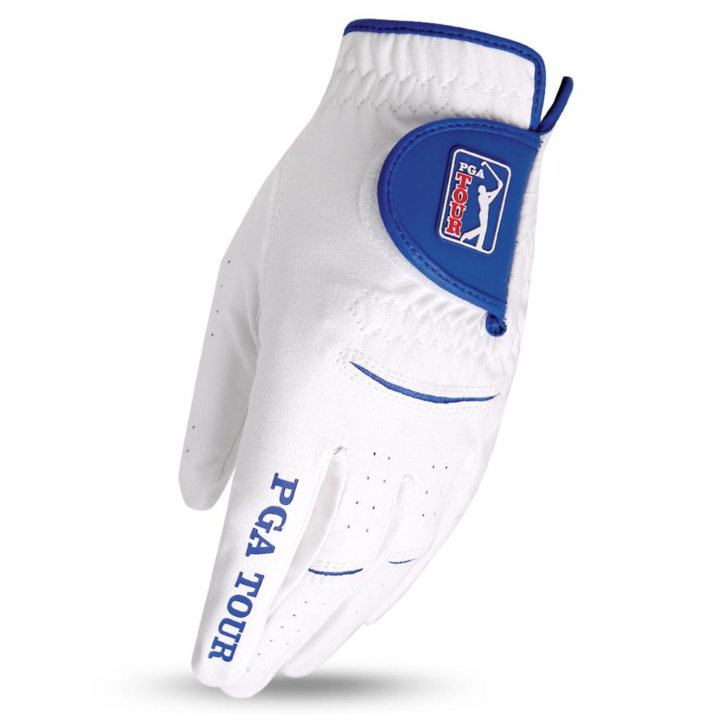 PGA투어 맥스플렉스 반양피 왼손 골프장갑, 화이트