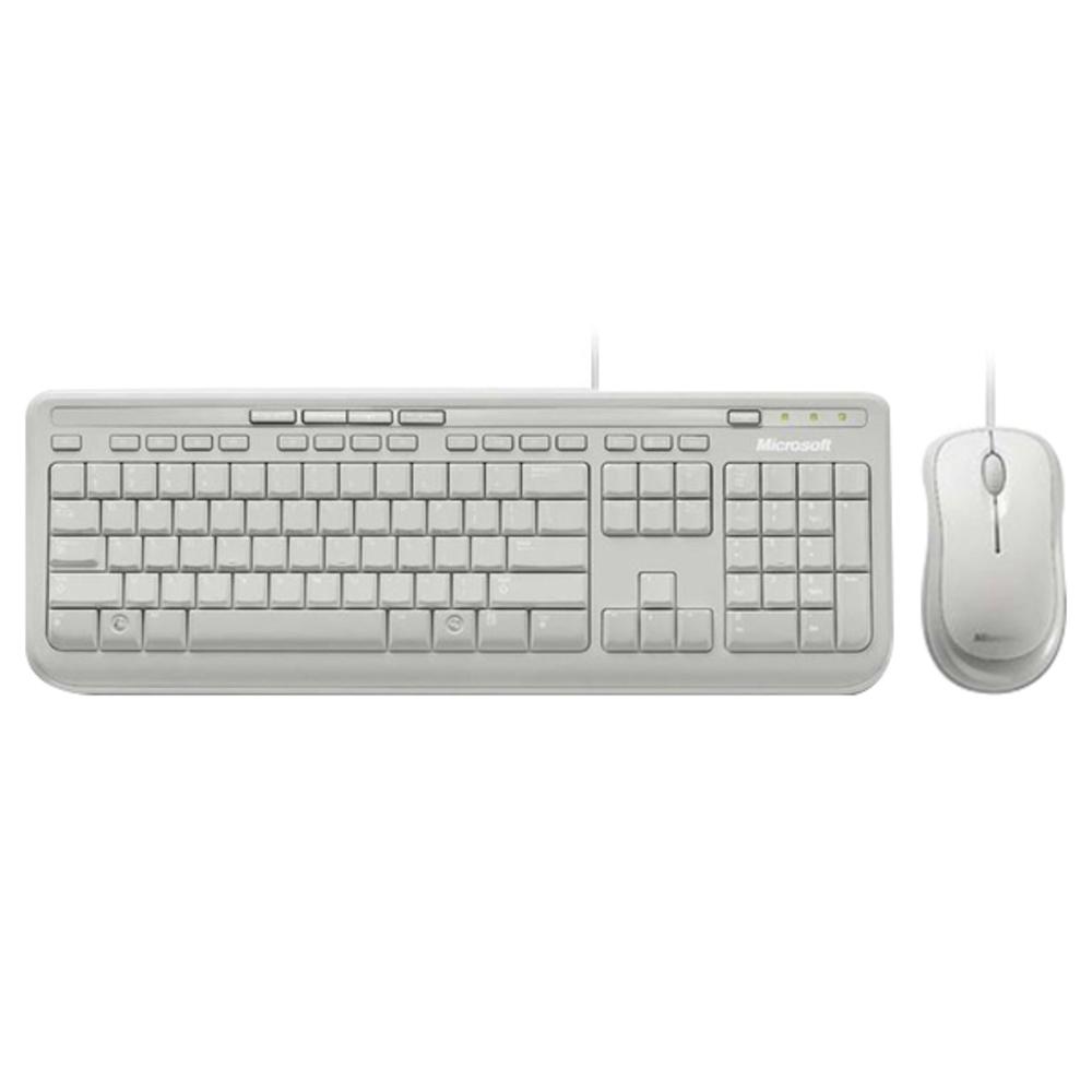 마이크로소프트 Wired Desktop 600 유선 키보드 + 마우스 세트, 화이트