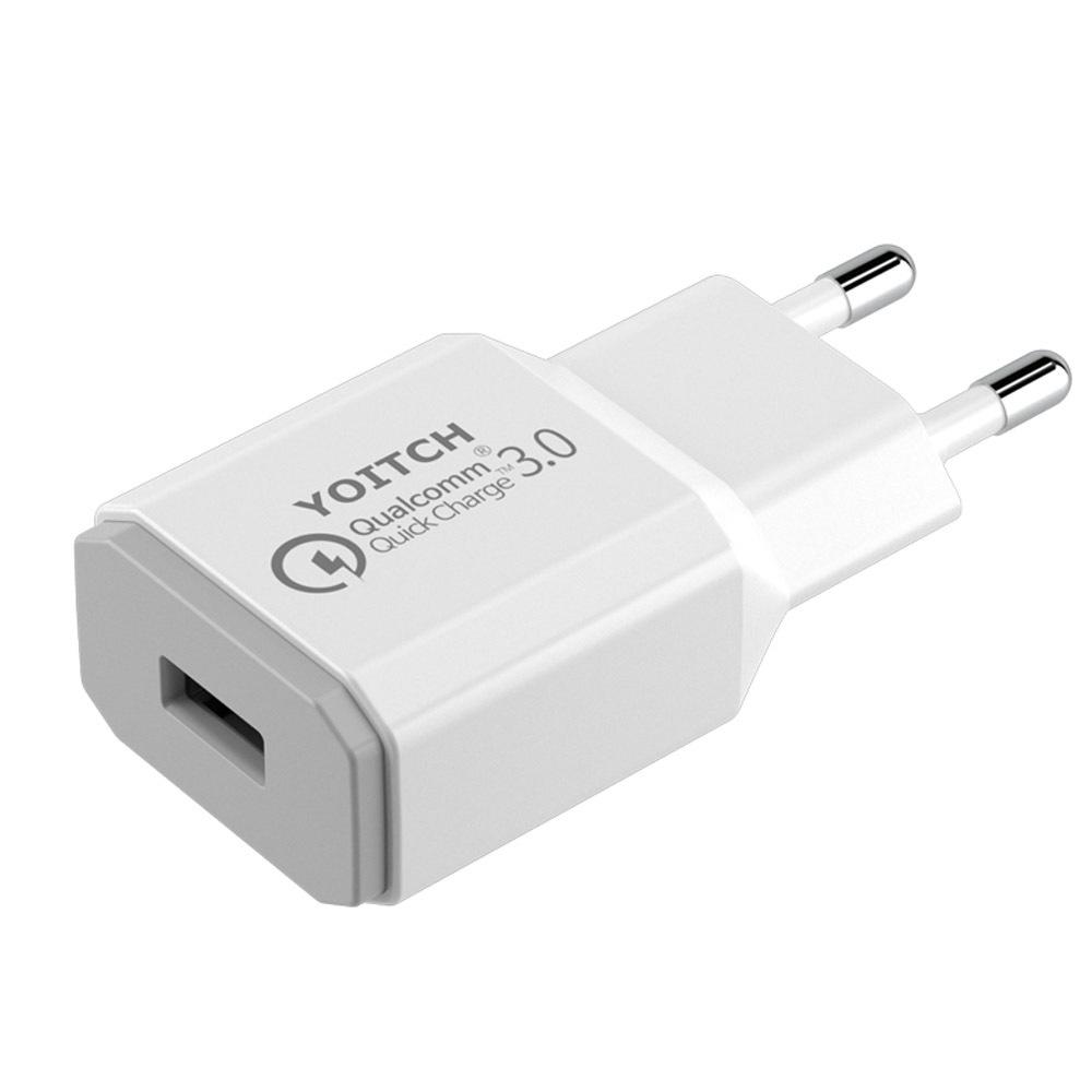 요이치 3.0 USB 고속 아답터 충전기 XM-QC3.0, 화이트, 1개