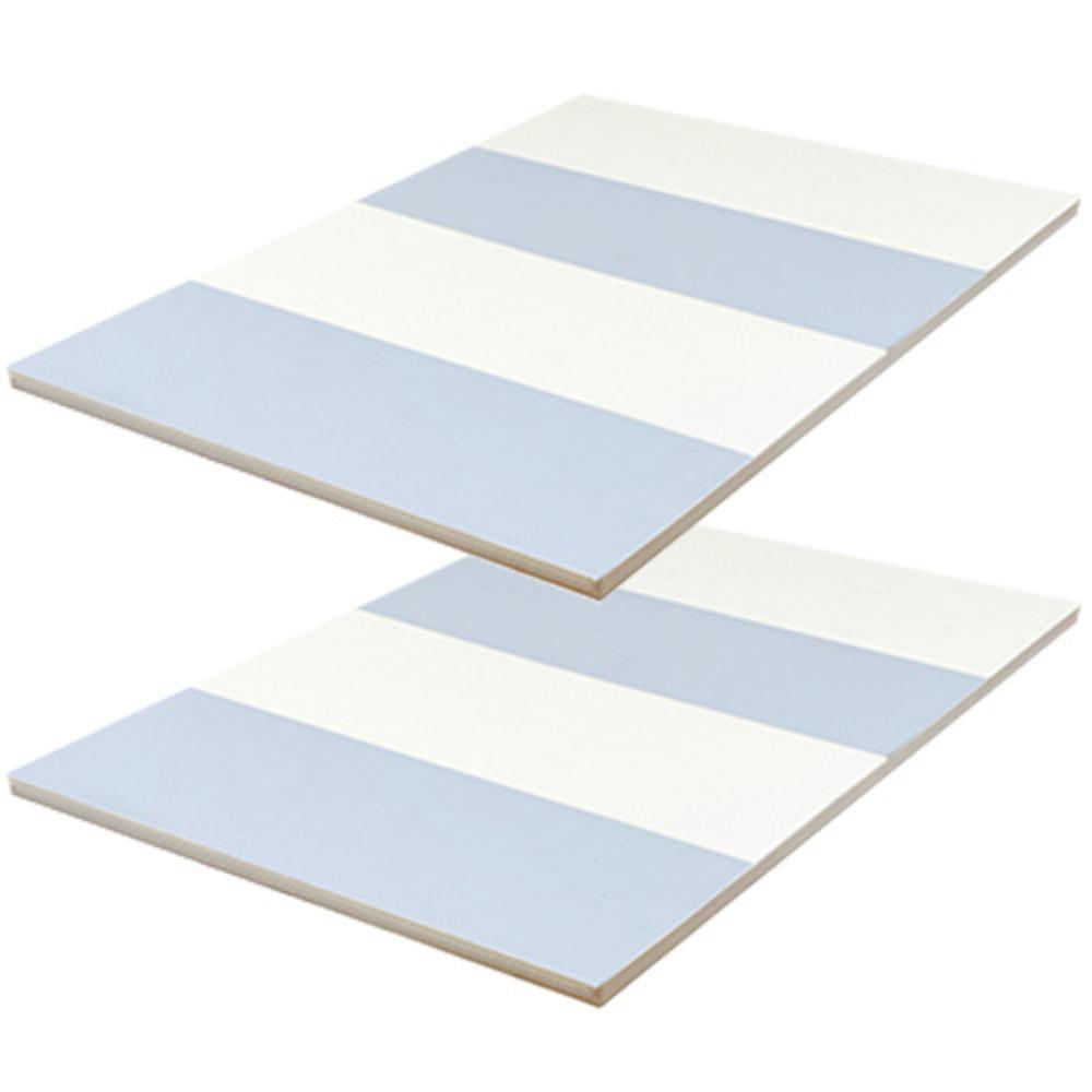 맘앤마음 컴팩트 폴더매트 2p + 밀림방지패드 8p, 크림그레이