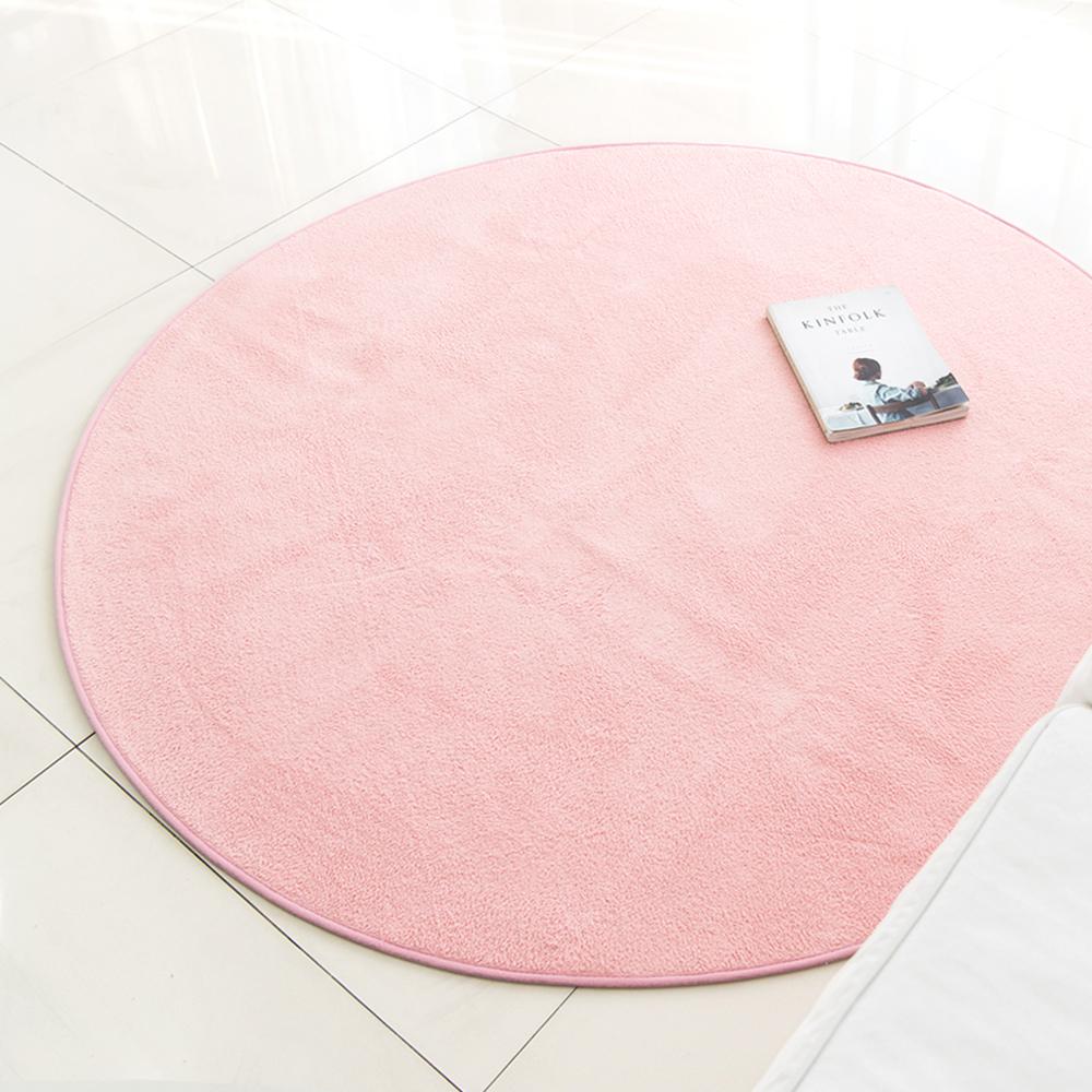 아포아룸 심플 비비드 원형러그, 핑크