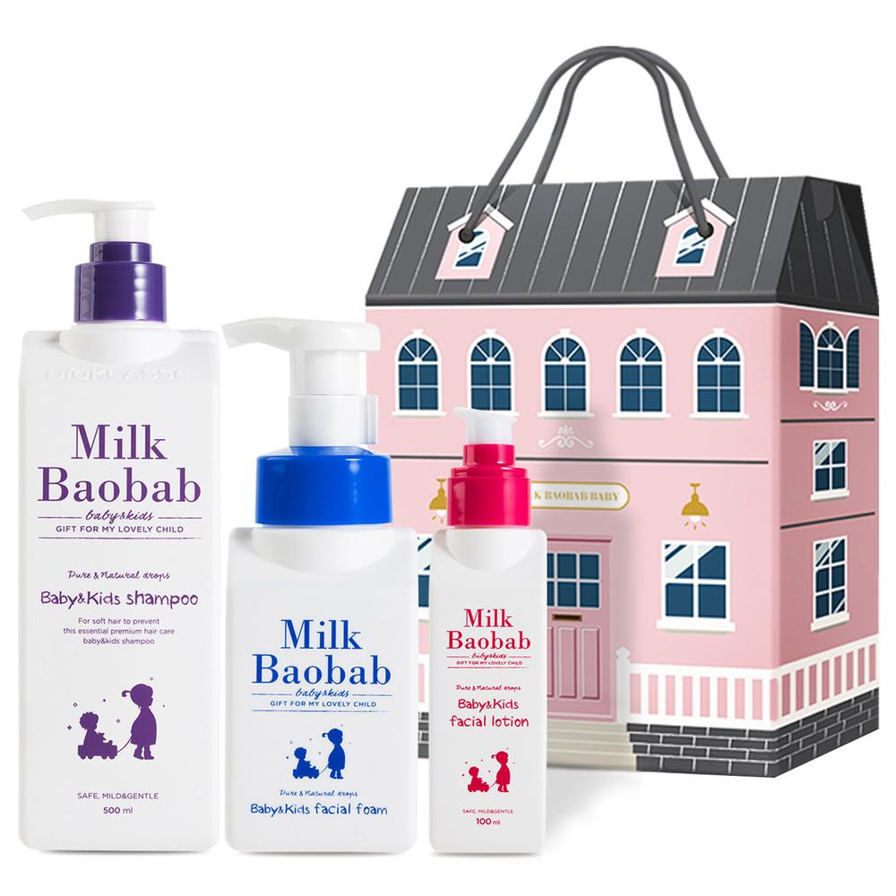 밀크바오밥 베이비 & 키즈 선물세트 샴푸 + 페이셜 폼 + 페이셜 로션, 1세트