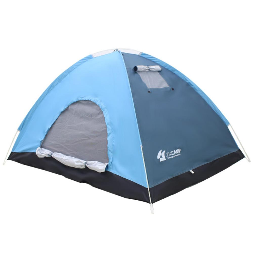 조아캠프 원터치 텐트, 텐트(블루), 가방(랜덤 발송), 3인용