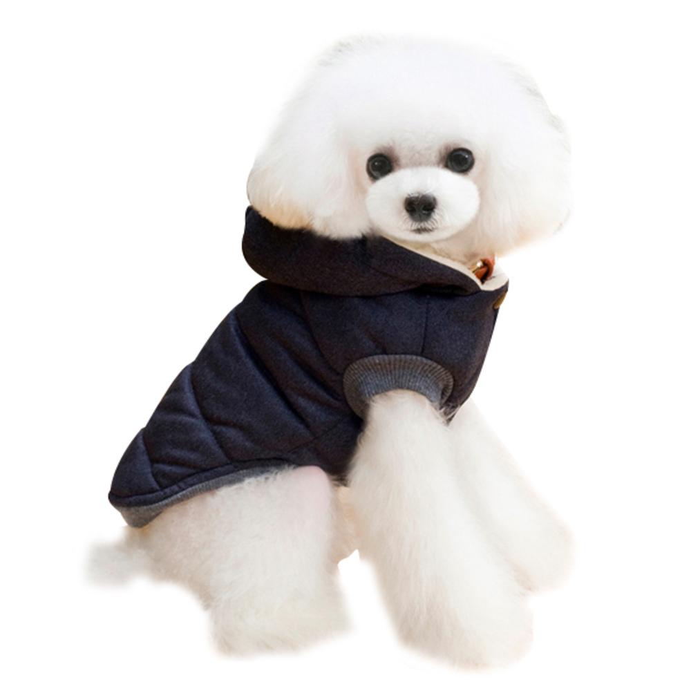 블럭마트 강아지 고양이옷 기모패딩, 블루