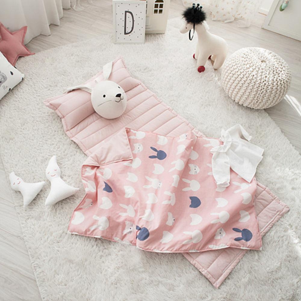 쉬즈홈 유아용 분리형 미유 낮잠이불 세트, 핑크