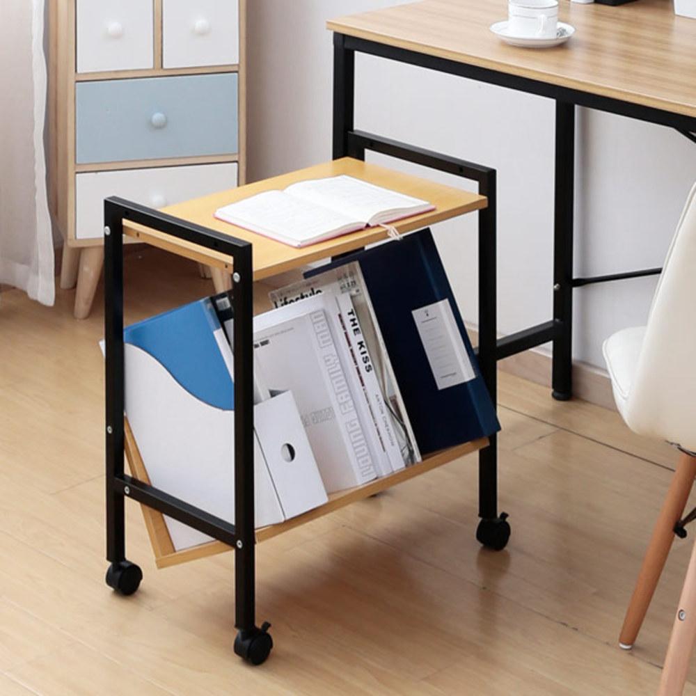 블루밍홈 이동식 보조 책상 서랍 MDD1, 옐로우비치