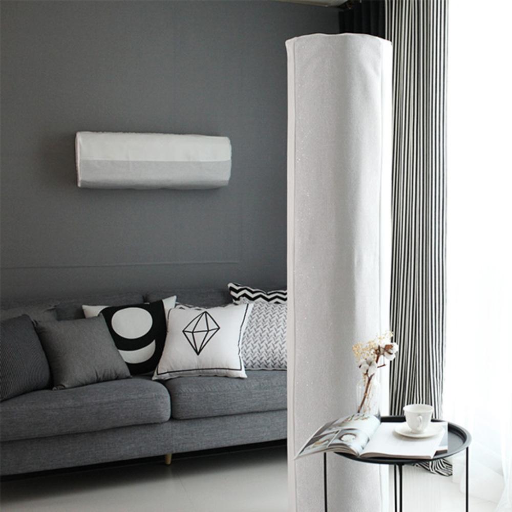골드얀 에어컨커버 스탠드 휘센 J, 마레그레이(Gray + White)