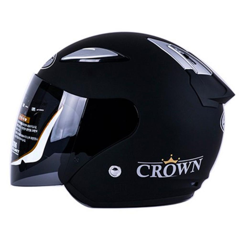SST 크라운 오토바이 헬멧, 무광블랙