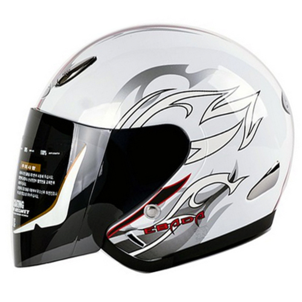 SST 체어맨 오토바이 헬멧, 화이트
