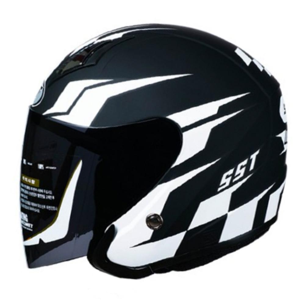 SST 오토바이 헬멧 아이돌, 무광블랙 화이트