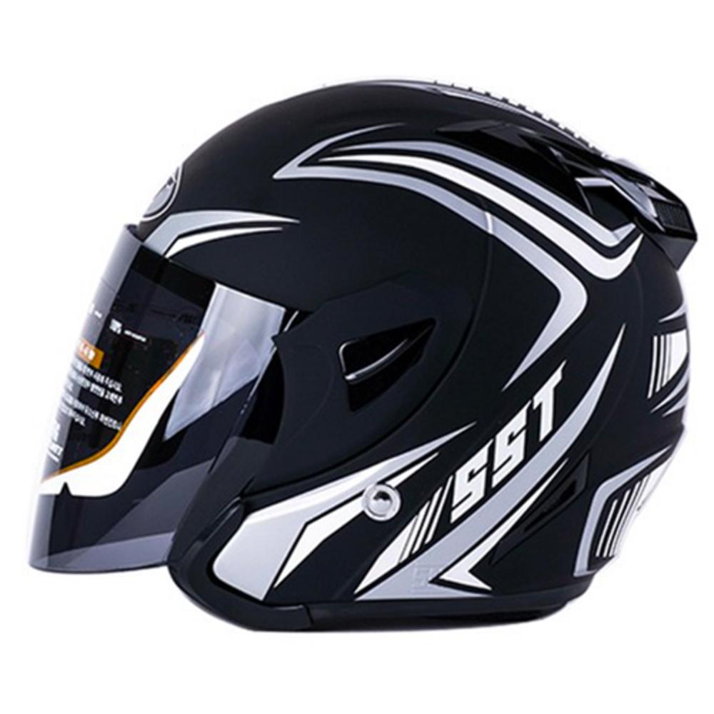 SST 오토바이 헬멧 K7, 무광블랙 실버