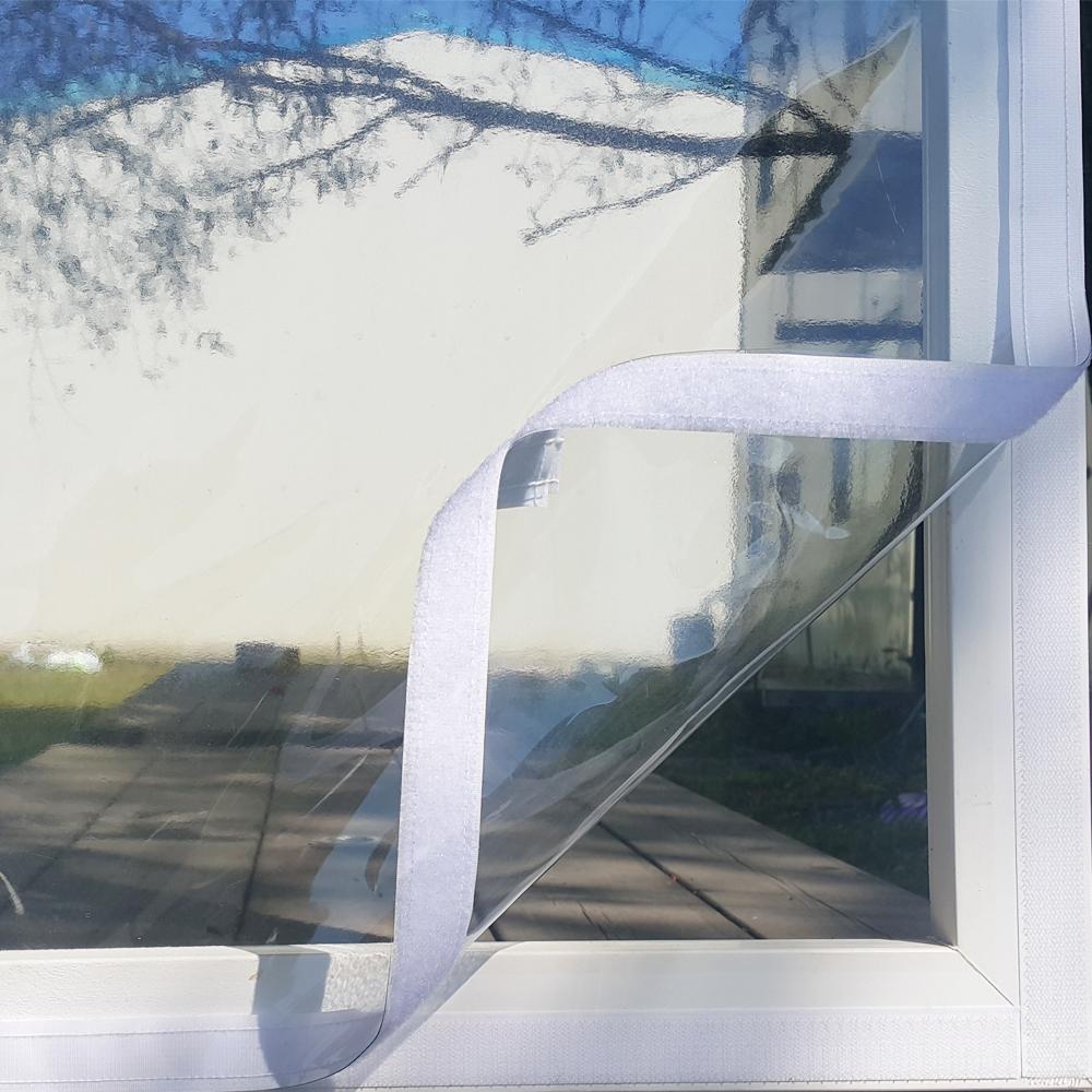 쾌청 제봉 방풍 비닐 + 흰색 벨크로 70 x 70 cm, 흰색벨크로