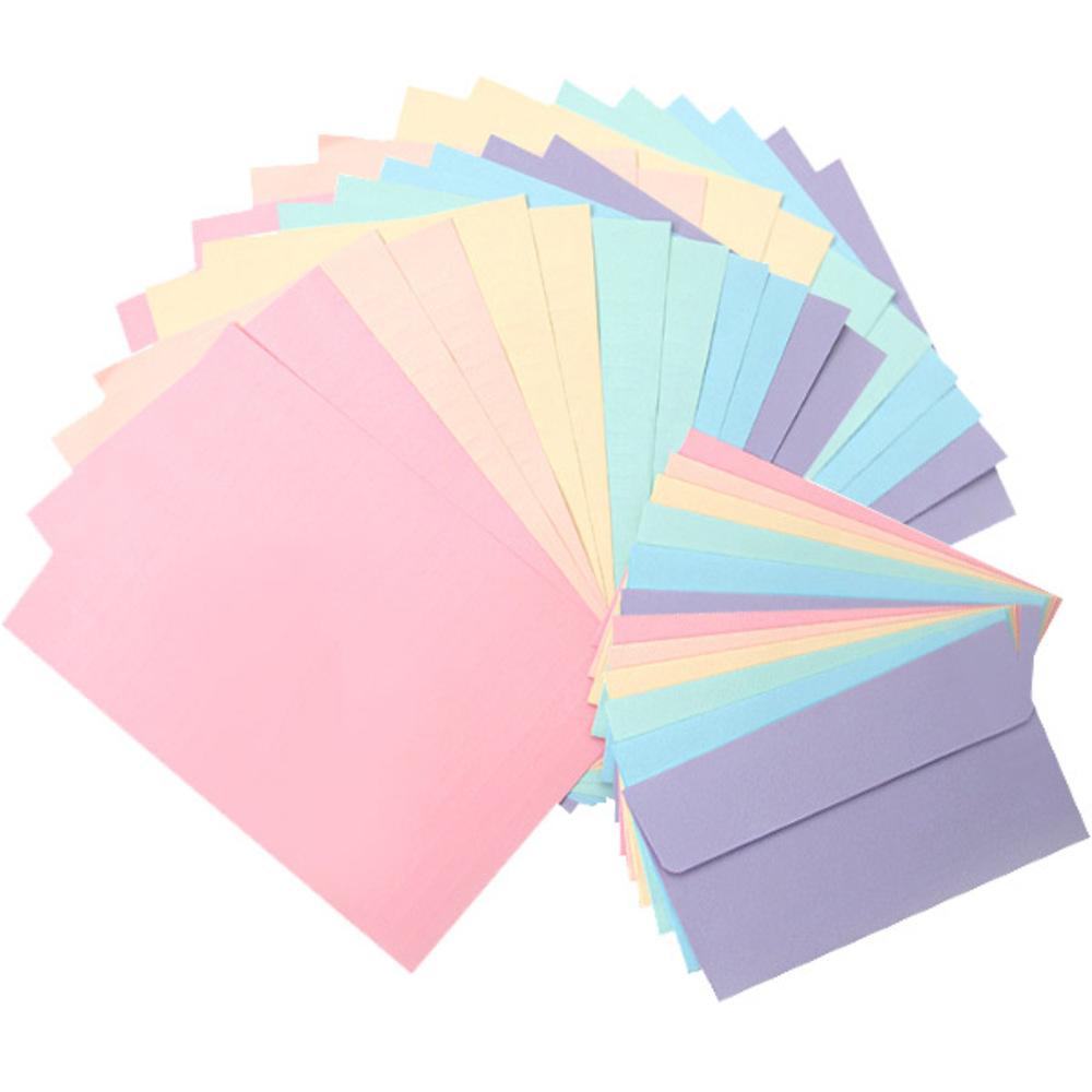 투영디자인 레인보우 6종 편지지 24p + 편지봉투 12p, 랜덤 발송, 1세트
