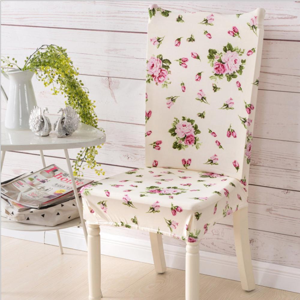 아리코 식탁의자 커버, 러블리 핑크 플라워
