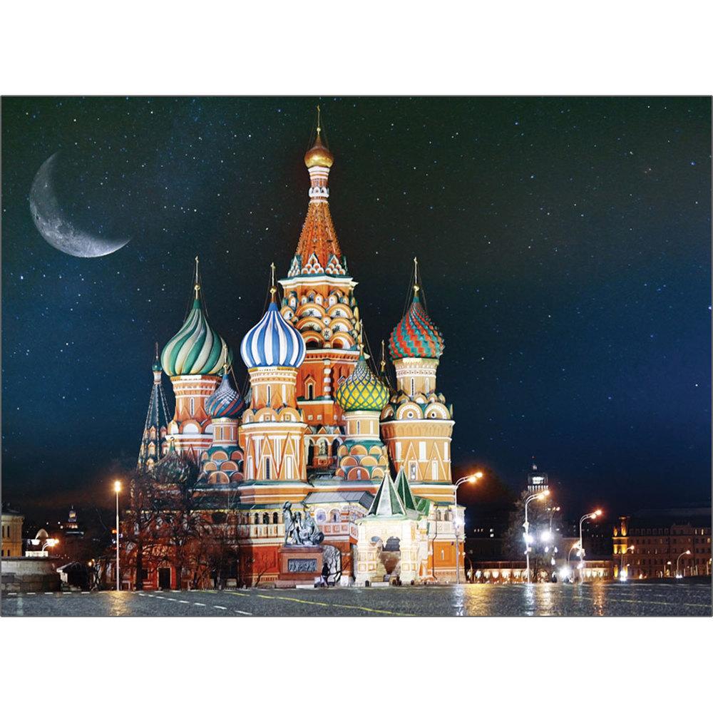퍼즐코리아 바실성당의 화려한 야경 직소퍼즐 3517 500피스 혼합 색상