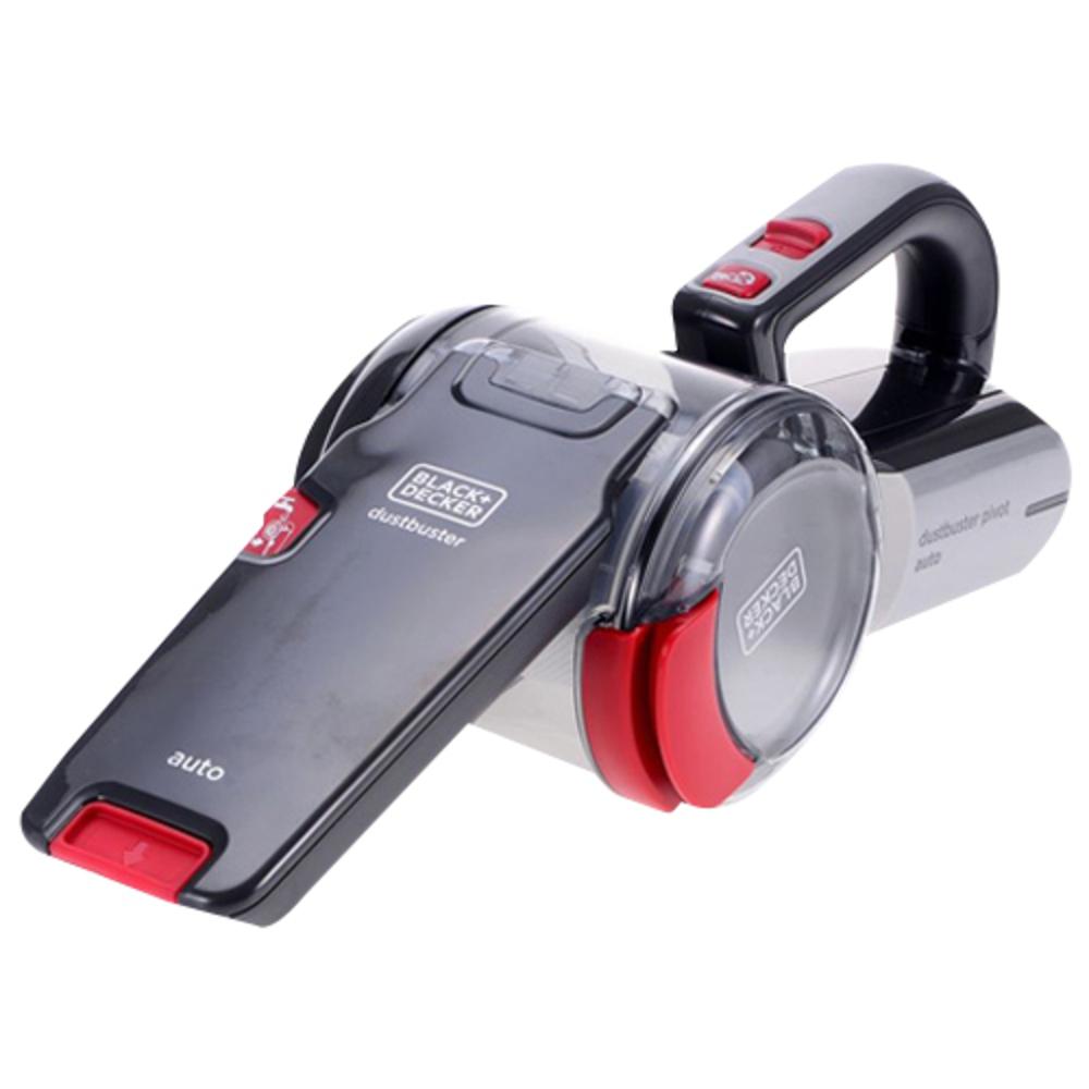 블랙앤데커 싸이클론 호루라기형 차량용 청소기 PV1200AV, Red + Silver
