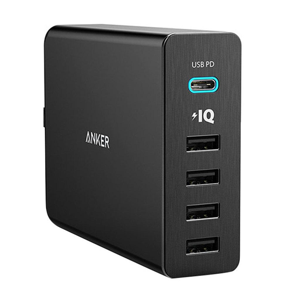 앤커 파워포트 플러스 파워 딜리버리 C타입 USB 허브 5포트, 블랙