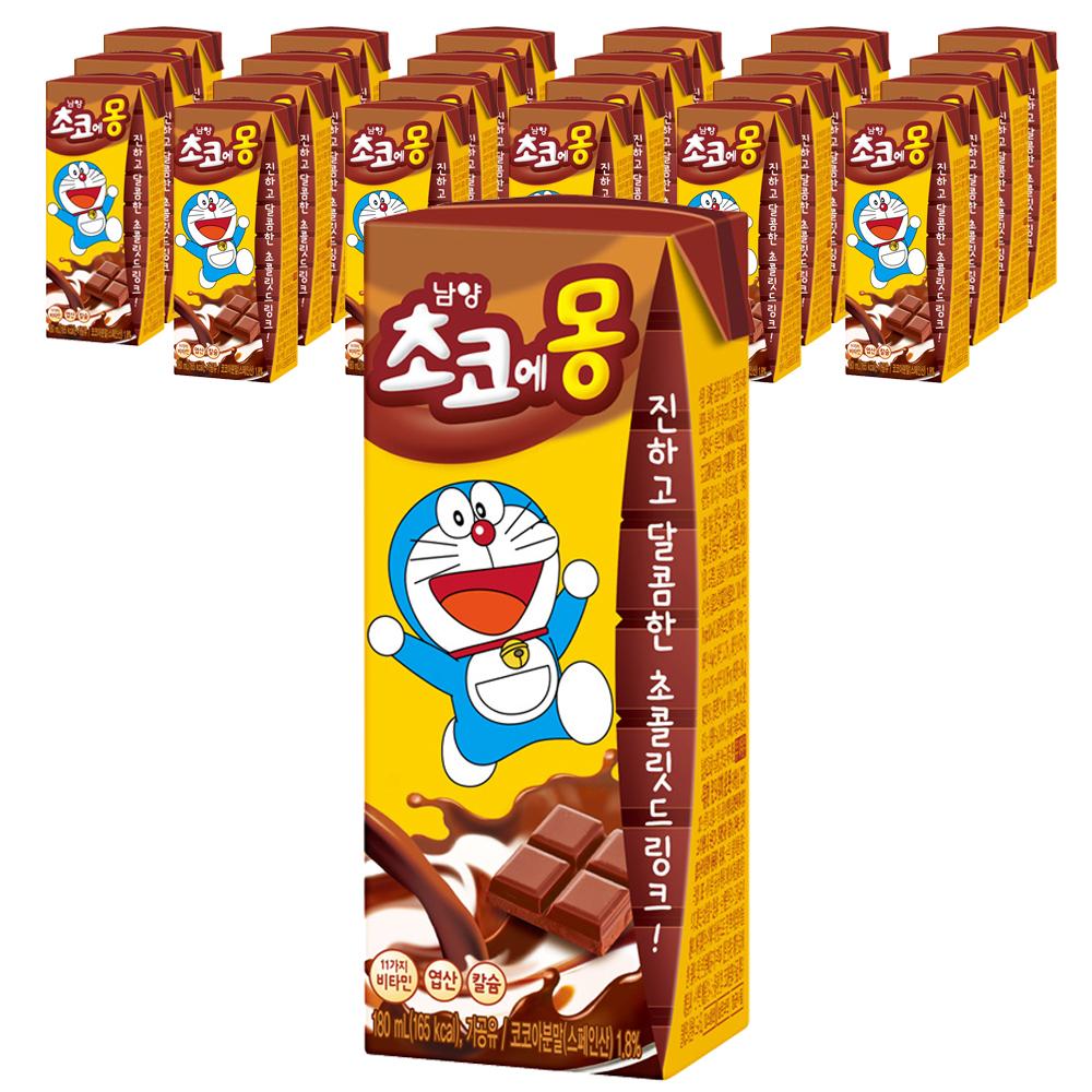 초코에몽 멸균우유, 180ml, 24개입