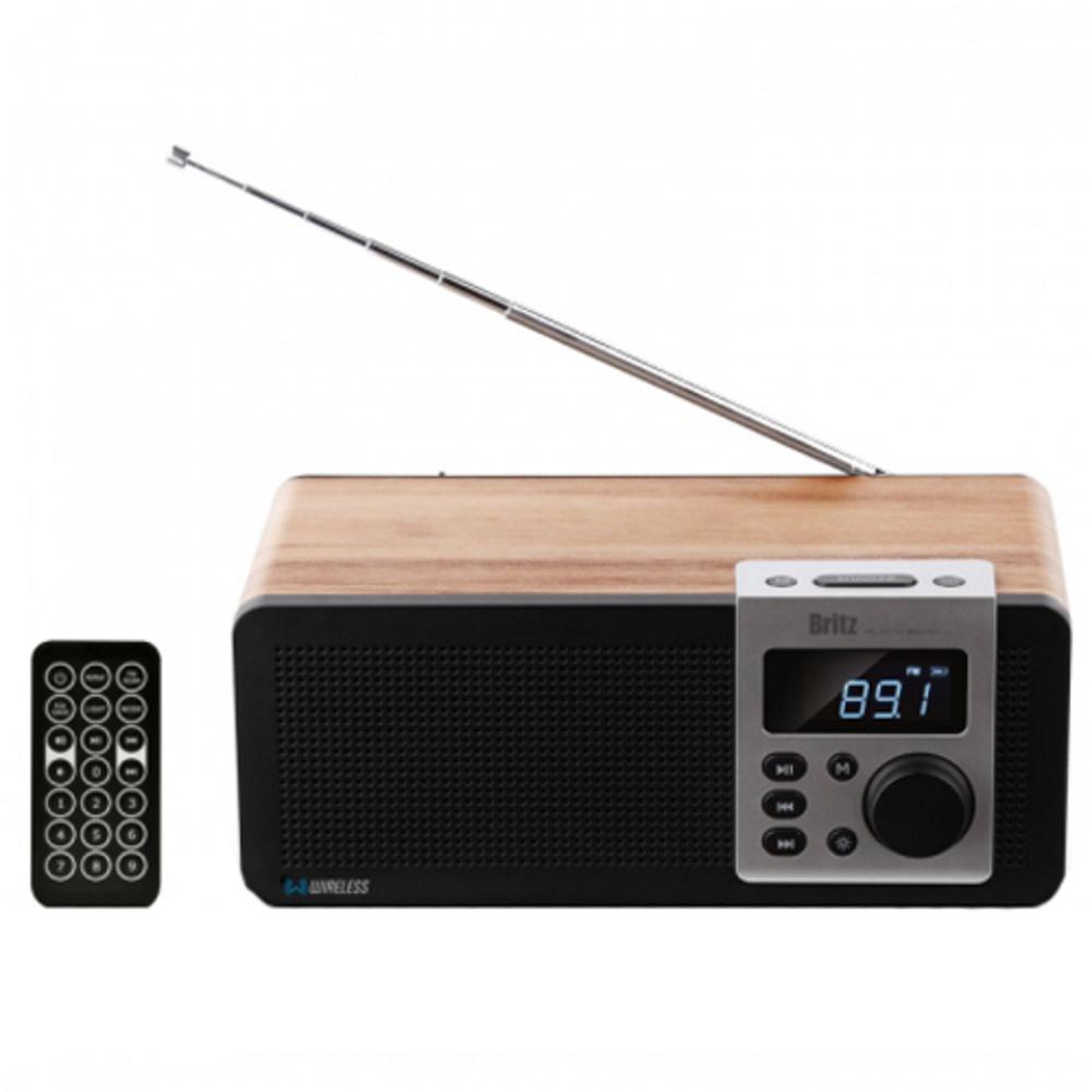브리츠 모던 레트로 스타일 FM 라디오 블루투스 스피커 BA-D1, 혼합 색상