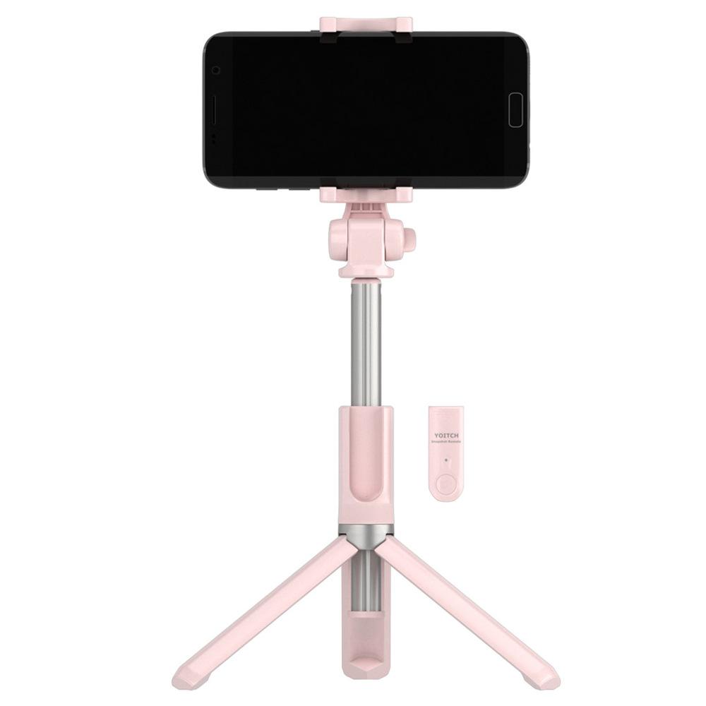 요이치 무선 블루투스 욜로 스마트폰 셀카봉, YSS-WT300(핑크)