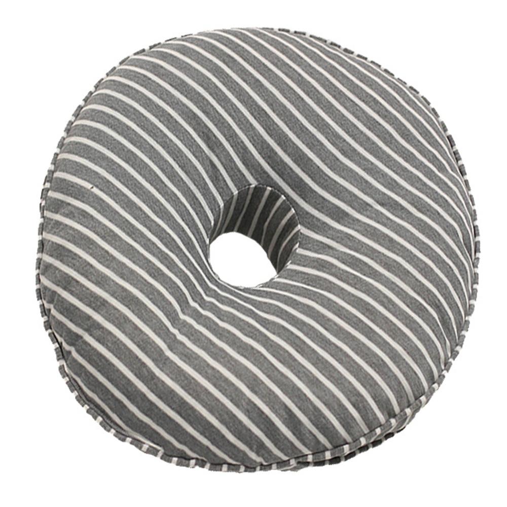하늬통상 도넛 쿠션 방석, 그레이