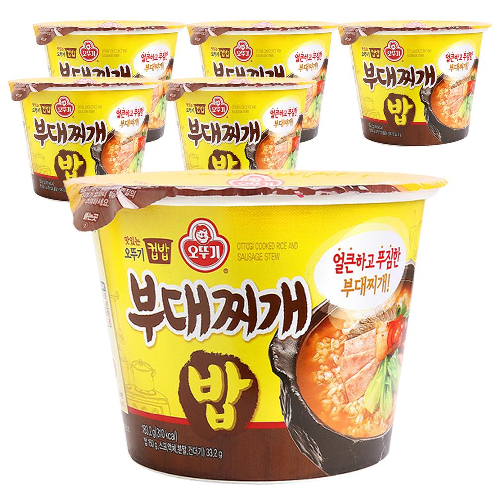 오뚜기 컵밥 부대찌개밥, 183.2g, 6개