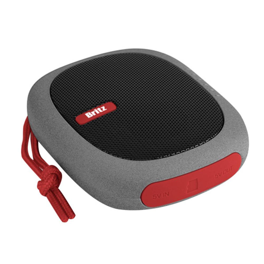 브리츠 SoundBOX 블루투스 스피커 BA-PB1, Red