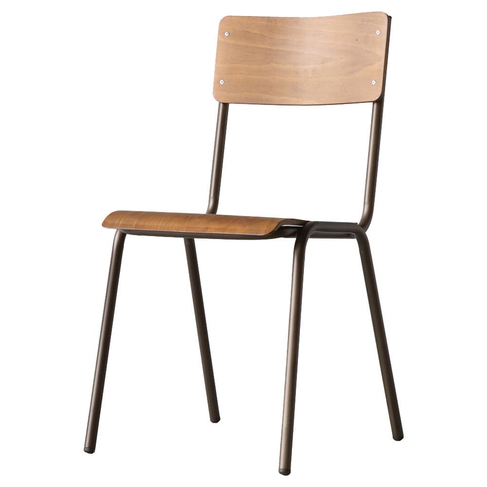 마켓비 GYOSIL 빈티지 의자 W1075A, 매트브라운