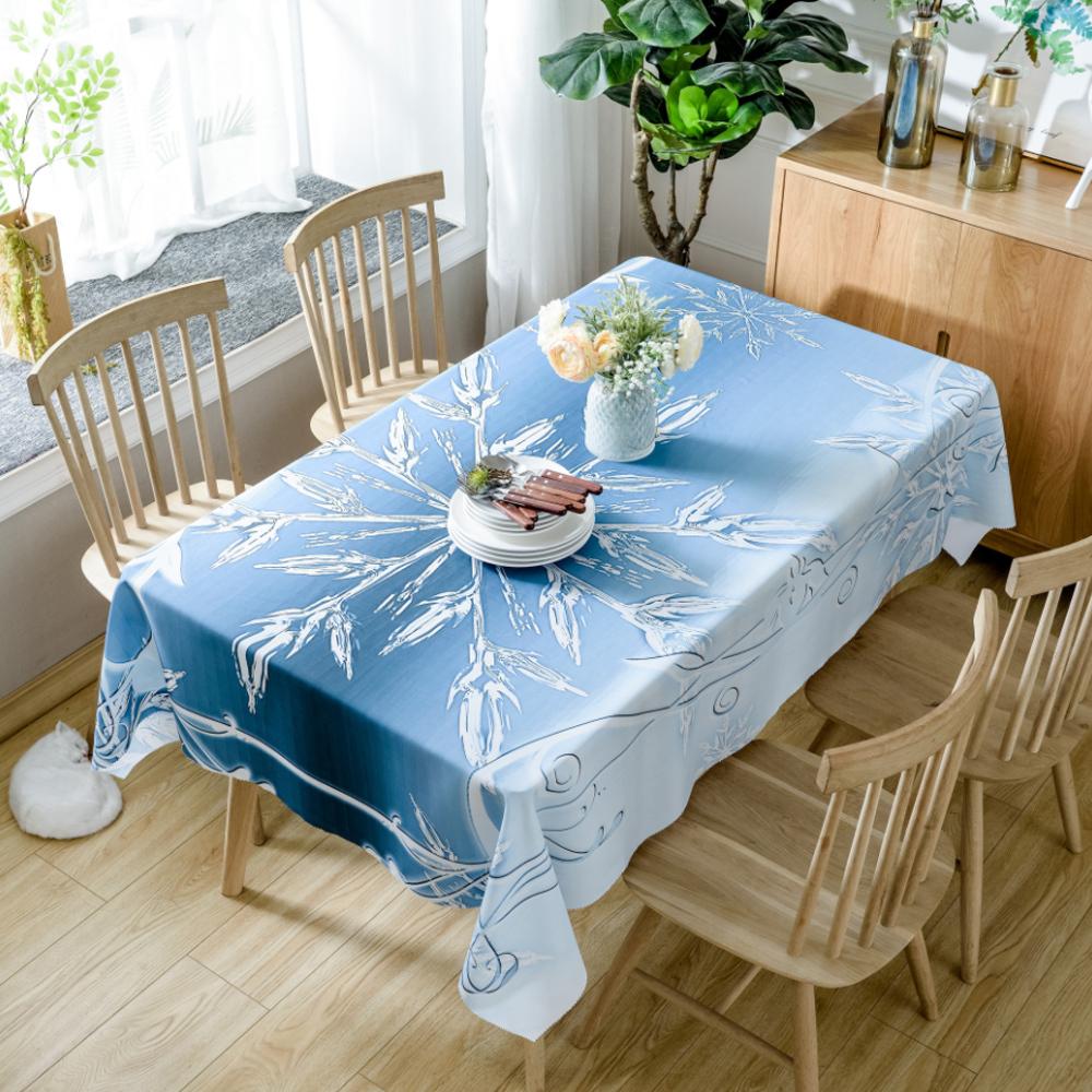 이코디 크리스마스 패턴 테이블 보, 크리스탈, 150 x 300 cm