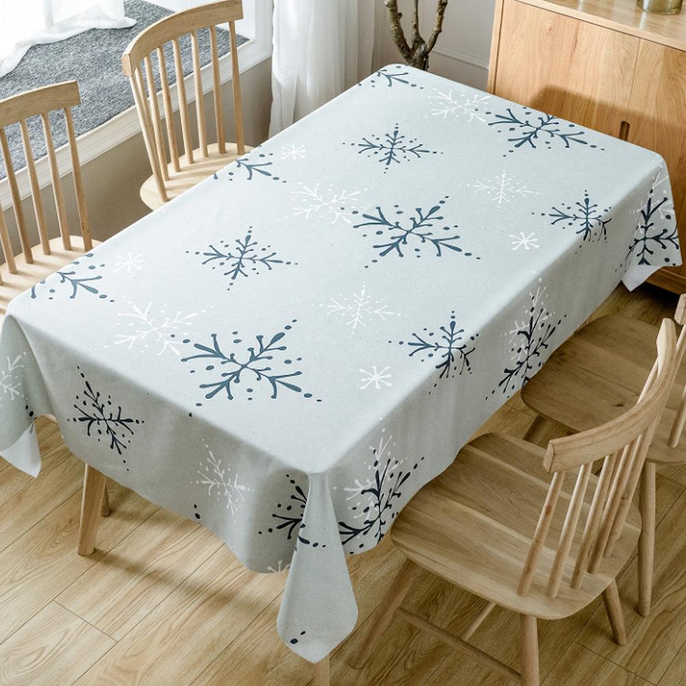 이코디 크리스마스 큐티 테이블 보, 눈꽃, 150 x 260 cm