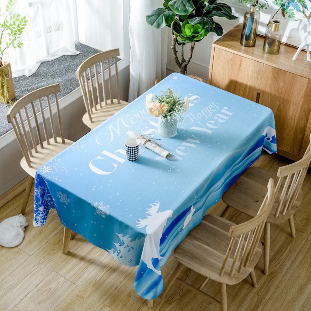 이코디 크리스마스 패턴 테이블 보, 해피뉴이얼, 150 x 300 cm