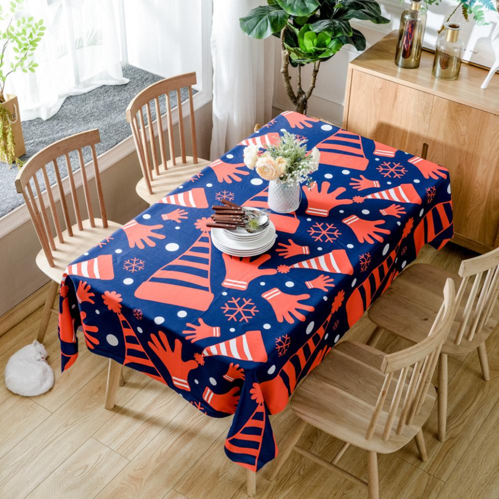 이코디 크리스마스 큐티 테이블 보, 꼬깔모자, 140 x 140 cm