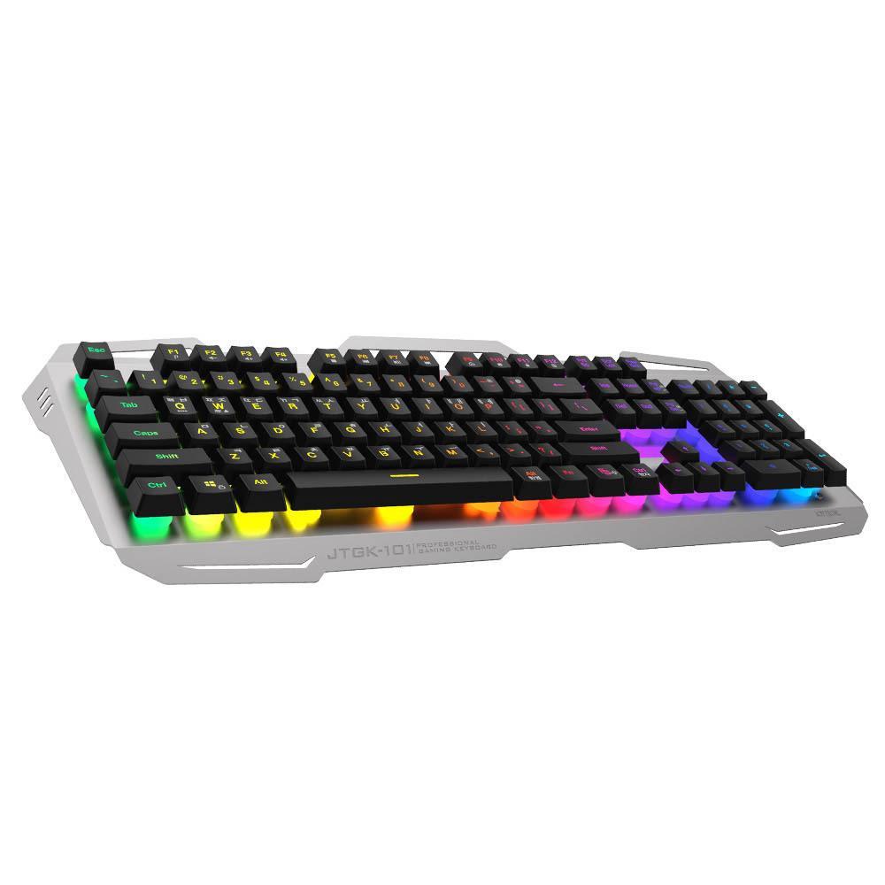 조이트론 프로페셔널 플런저타입 LED 게이밍 키보드 JTGK-101, Silver