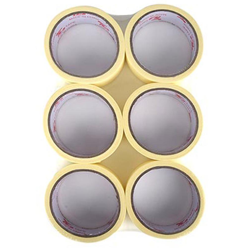 블루마토 종이테이프 35mm x 15m, 단일 색상, 6개입