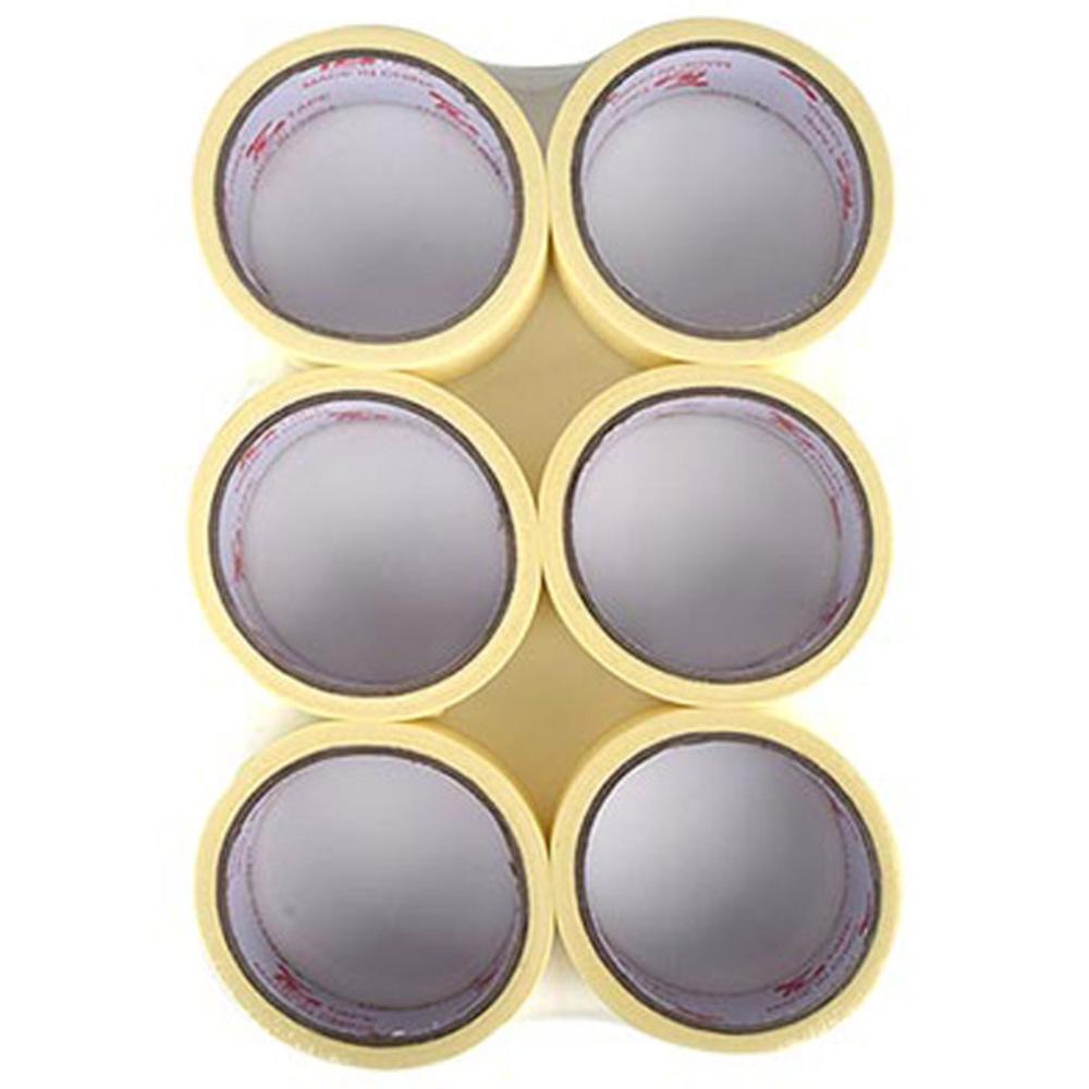 블루마토 종이테이프 24mm x 15m, 단일 색상, 6개입