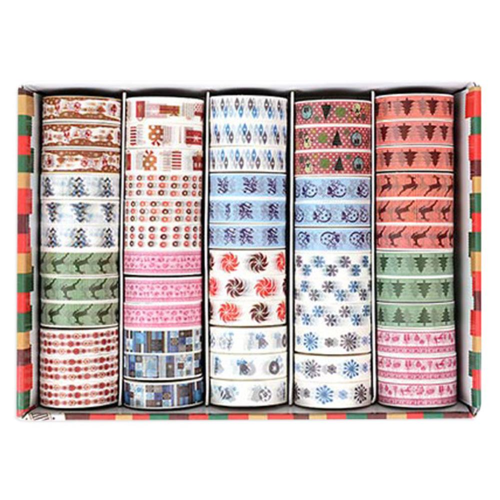 블루마토 종이테이프10 크리스마스B 15mm x 10m, 20색, 60개입