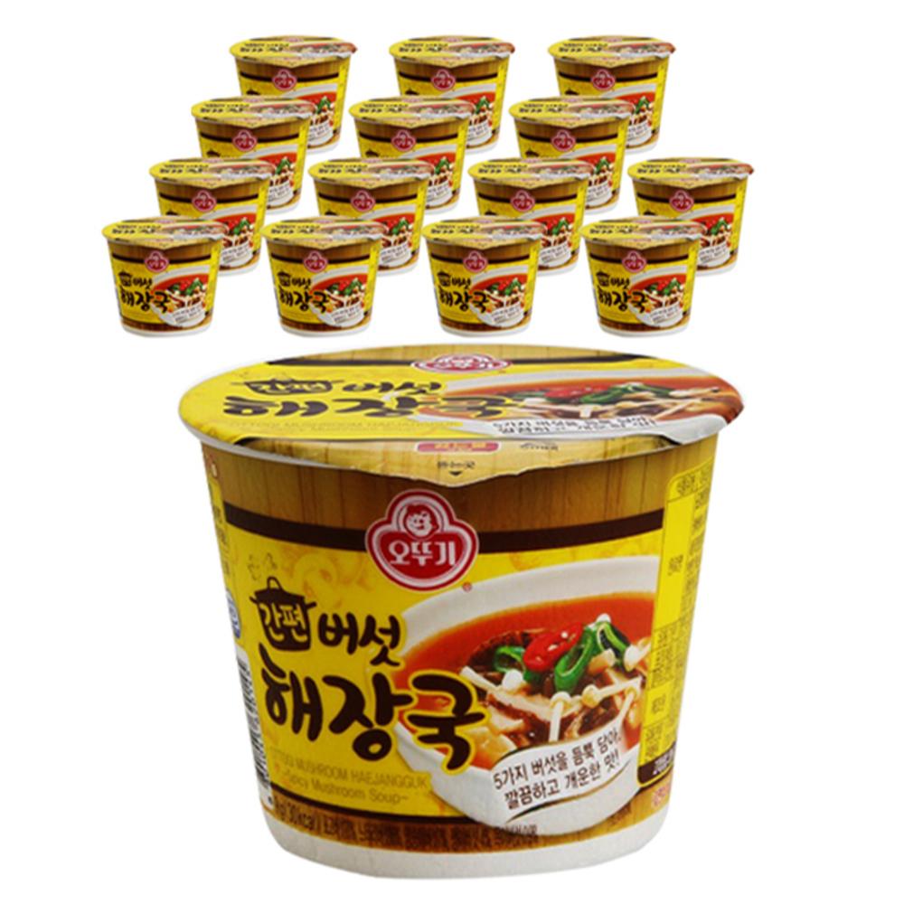 오뚜기 간편 버섯해장국 컵, 9g, 15개
