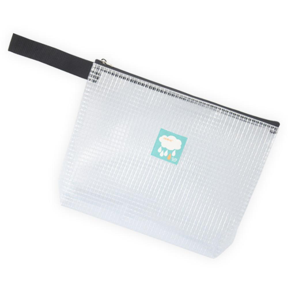 큐트에코 네임 라벨 투명 방수 손목끈 파우치
