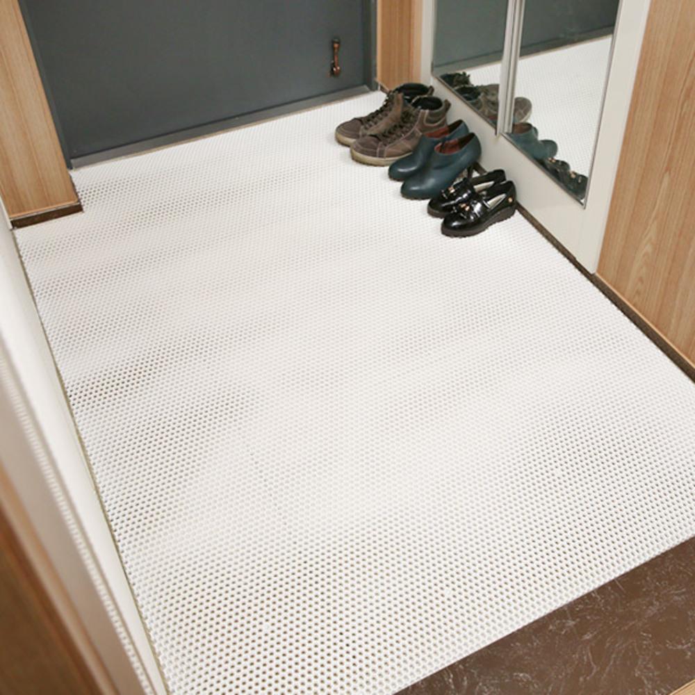 에코라이프 허니콤 미끄럼 방지 매트 대 125 x 180 cm, 화이트, 1개