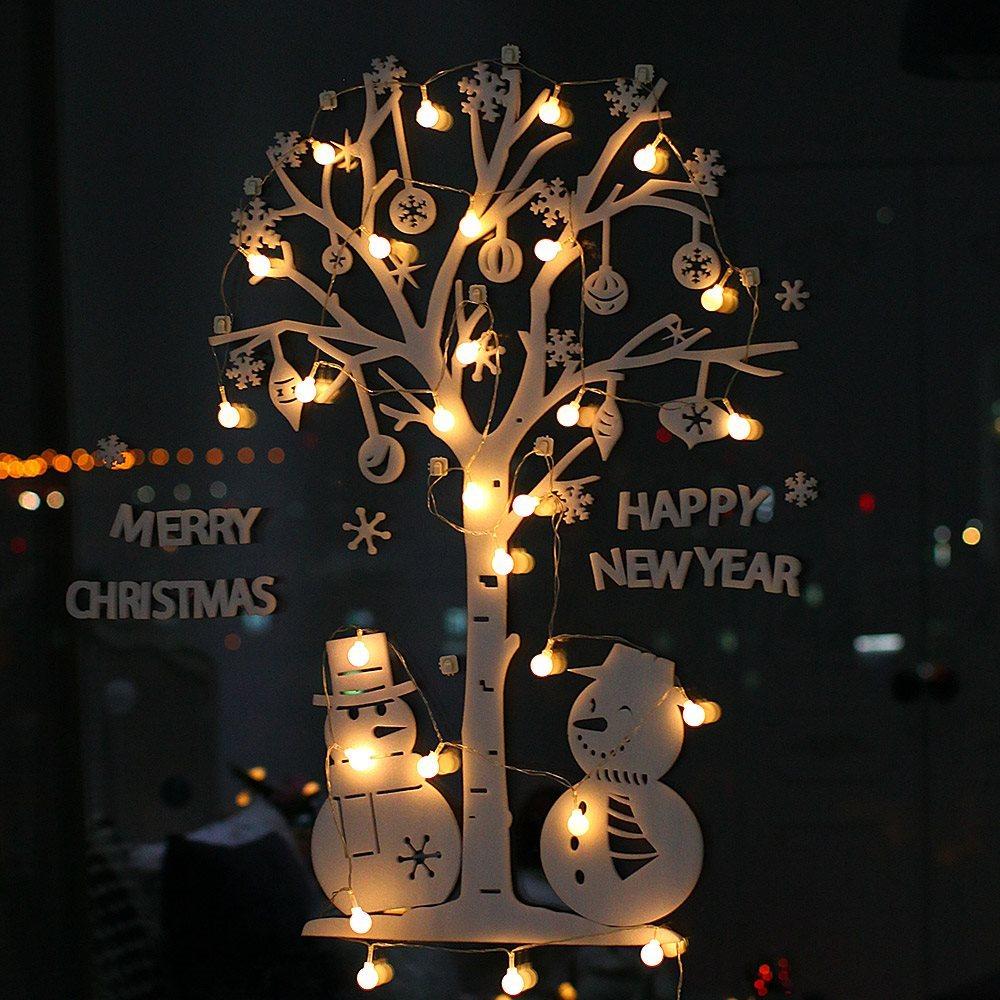 조아트 크리스마스 화이트 폼 벽트리 + 뽀숑루돌프, 눈사람 웜