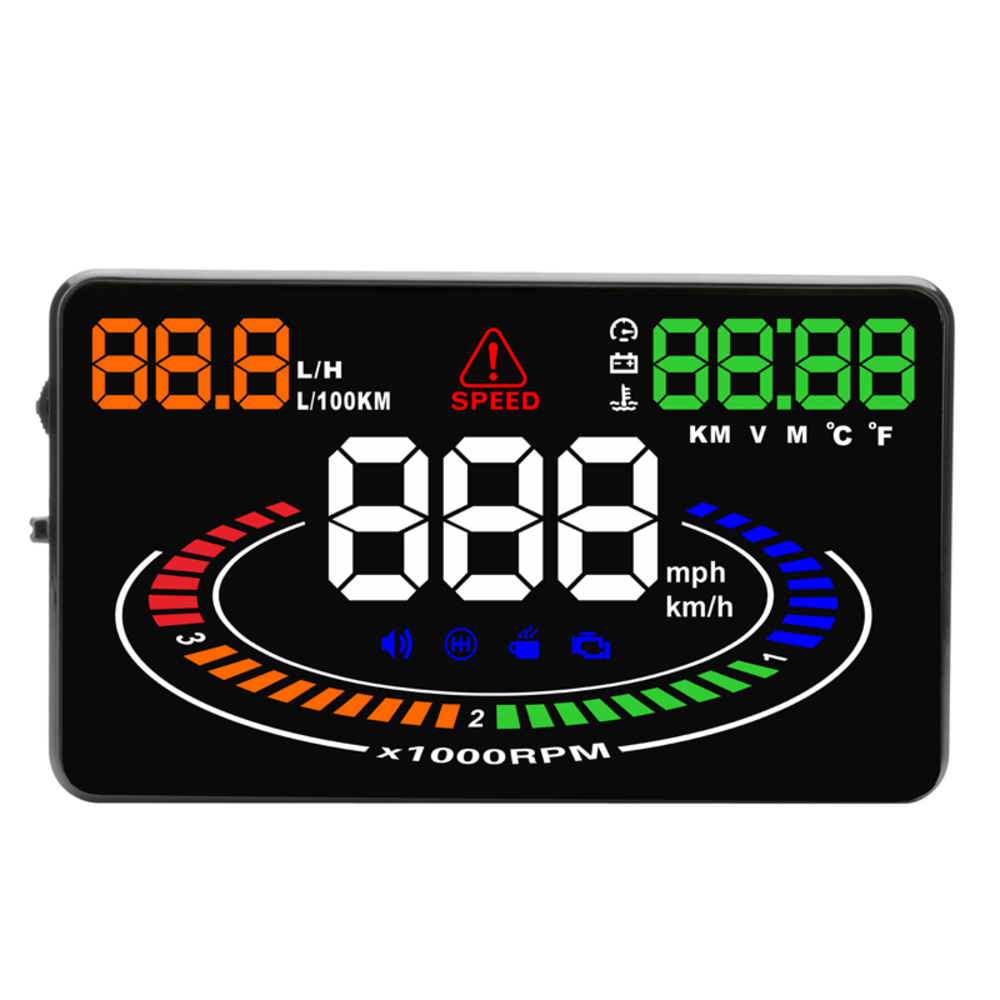 삼에스 자동차 HUD 헤드 업 디스플레이 계기판 OBD형 3S-R8, 1세트