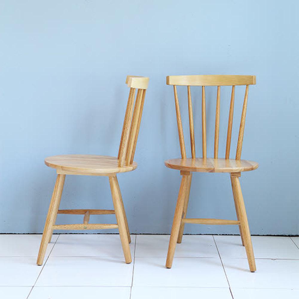 베스트리빙 바바리아 의자 2p, 내츄럴 오크