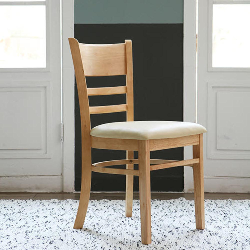 베스트리빙 캘빈 원목 의자 2p, 내츄럴 + 베이지