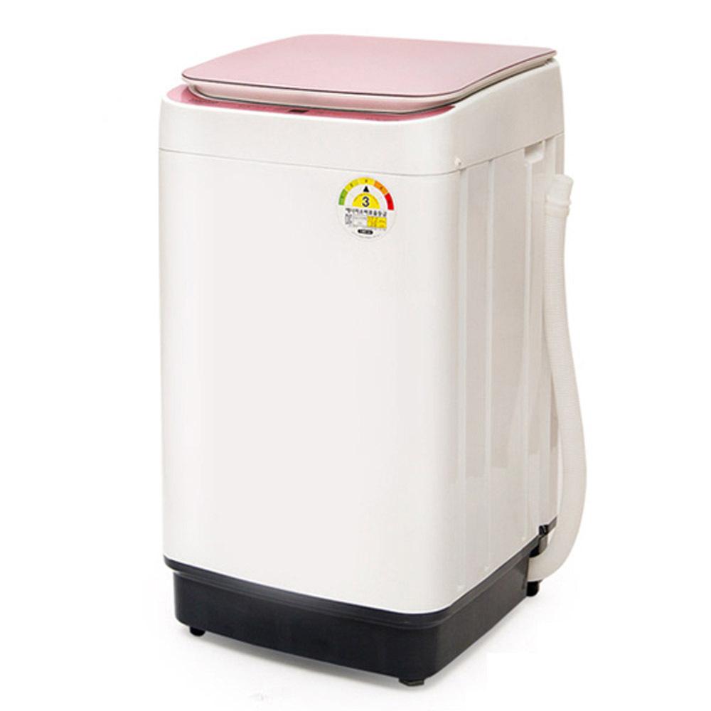 에코웰 크리스탈신형 전자동 미니세탁기 XQB45-3566 4kg, XQB45-3566(핑크)