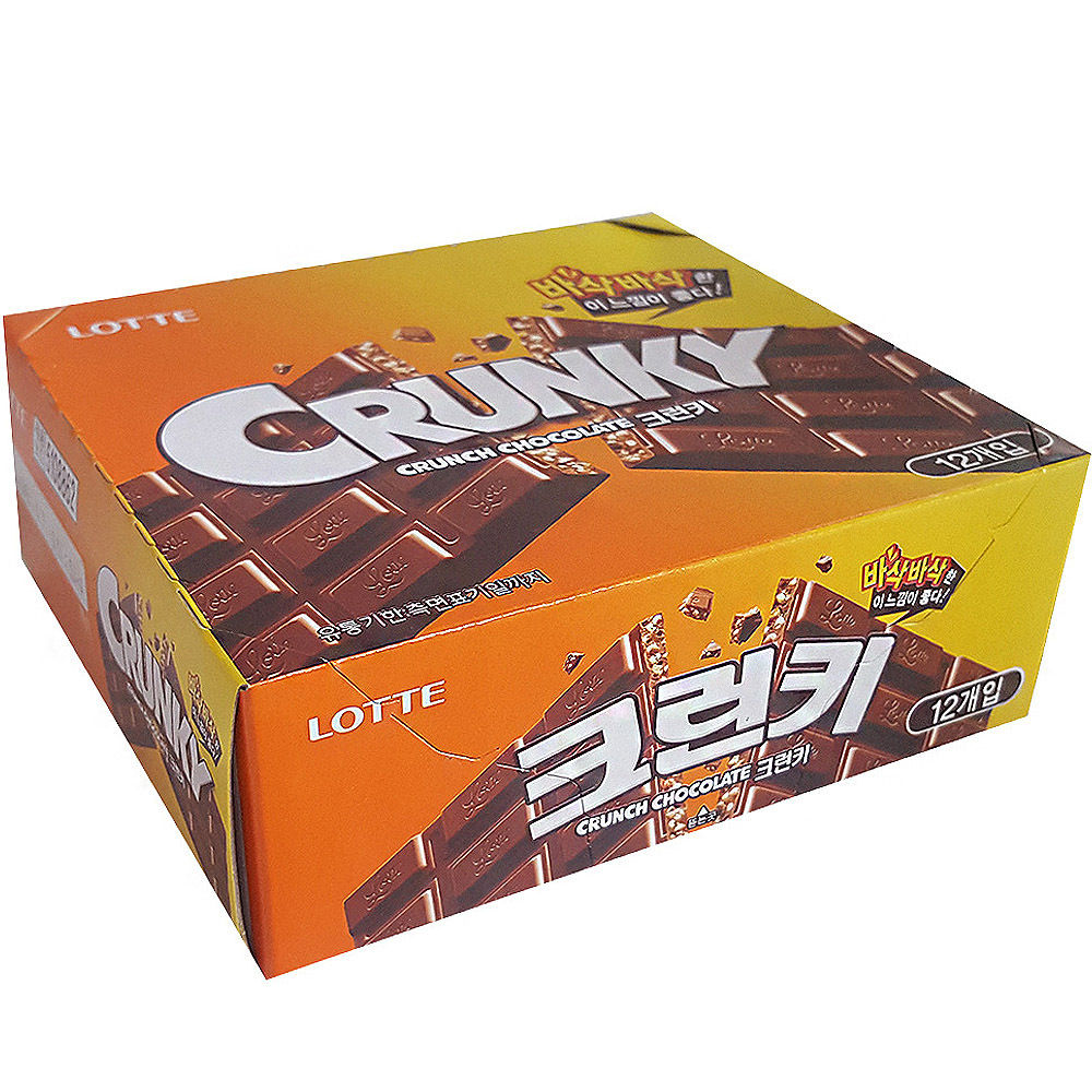 롯데제과 크런키 초콜릿, 34g, 12개입
