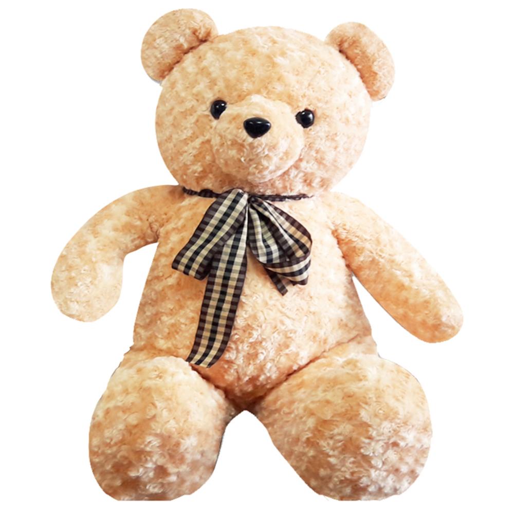 아트코리아 러브 리본 빅 곰인형, 100cm, 브라운