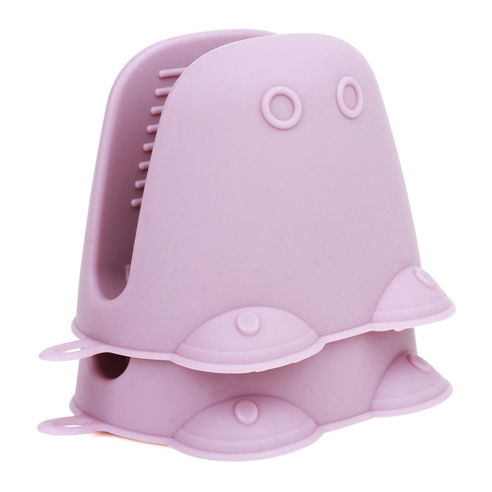 레벤쿠첸 파스텔 악어 실리콘 손잡이, 핑크, 2개입