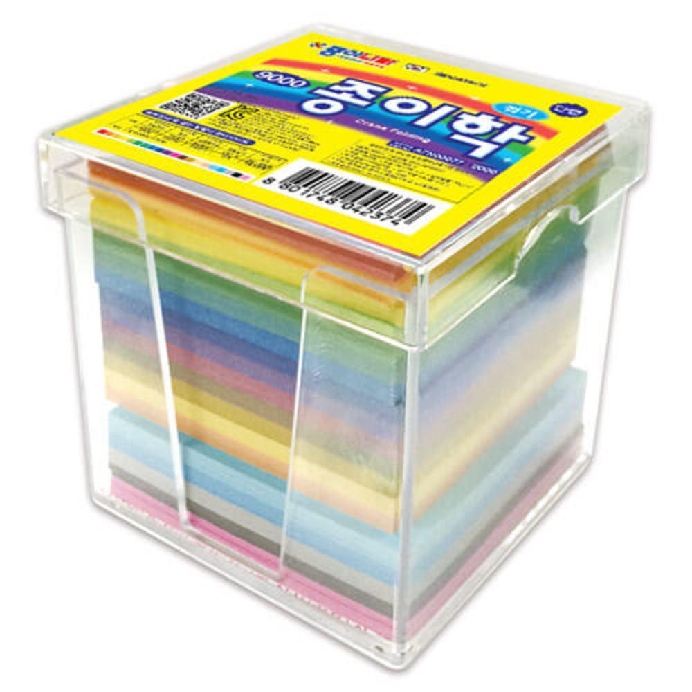 종이나라 단면 종이학접기 색종이, 20색, 1000매입