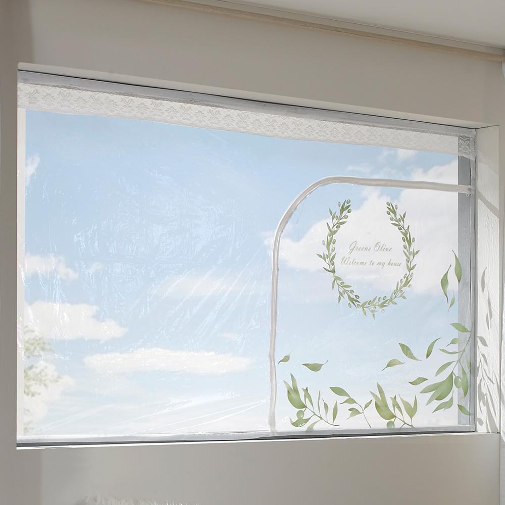알뜨리 EVA 창문용 방풍비닐, 올리브